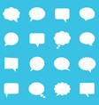 empty white speech bubbles vector image vector image