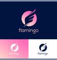flamingo logo wing icon bird vector image