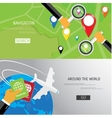 flat concept of World travel and tourism vector image vector image