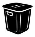 garden bucket icon simple style vector image vector image