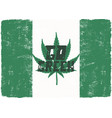 go green poster canada legalize concept with vector image
