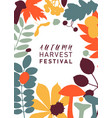 hand drawn fall design in color autumn botanical vector image
