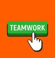 hand mouse cursor clicks the teamwork button vector image vector image