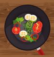 healthy food vegan icons vector image vector image