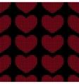 hearts halftone vector image vector image