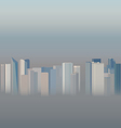 High-rise office city buildings in the smog vector image vector image