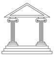 Historical building vector image