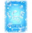 ice party flyer template vector image vector image
