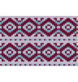 knitted endless pattern handmade the color is vector image