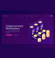 landing page cryptocurrency marketplace vector image