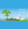 landscape with tree and mountain vector image vector image