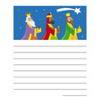 letter to the three kings of orient vector image vector image