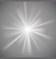 light effect on transparent background vector image