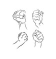line drawing doodle hands showing common signs vector image