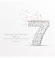 number seven starry sky or space low poly wire vector image vector image