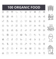 organic food line icons signs set vector image vector image