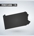 pennsylvania state map in black on a white vector image vector image