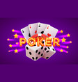 poker label casino banner signboard background vector image vector image