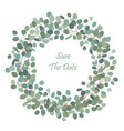 round wreath with silver dollar eucalyptus vector image vector image