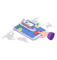 sea cruise online booking isometric vector image vector image