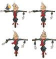 set funny scarecrows Cartoon vector image