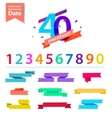 set of anniversary numbers design Create vector image vector image