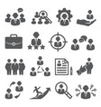 staff icons set on white background vector image vector image