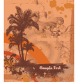summer poster with palm trees vector image vector image