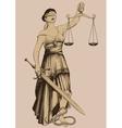Symbol of justice Femida vector image vector image