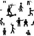 terrorism concept set of terrorist people terror vector image vector image