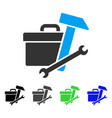 toolbox flat icon vector image vector image