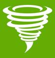 tornado icon green vector image vector image