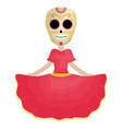 traditional katrina mexican character vector image