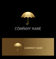 umbrella gold logo vector image