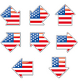 USA flag arrow placards vector image vector image