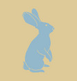 vintage hare hand drawn vector image vector image