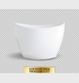 white flower pot on transparent background vector image