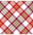 white red check seamless fabric texture vector image vector image