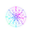 wiccan symbol protection mandala witches runes vector image vector image