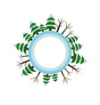 winter season icon tree vector image