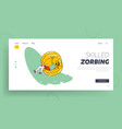 zorbing summer time fun active recreation and vector image