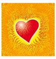 flames heart vector image