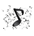 Music background with notes vector image