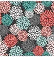 Seamless pattern of abstract flowers vector image