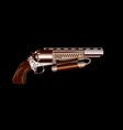Steampunk revolver vector image