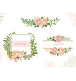 card with flowers set of cards vector image