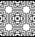 abstract art deco black geometric ornamental vector image