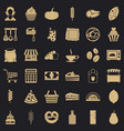 bakery icons set simple style vector image vector image