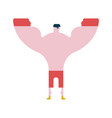 boxer winner hands up athlete in competitions vector image
