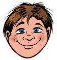 boys face vector image vector image